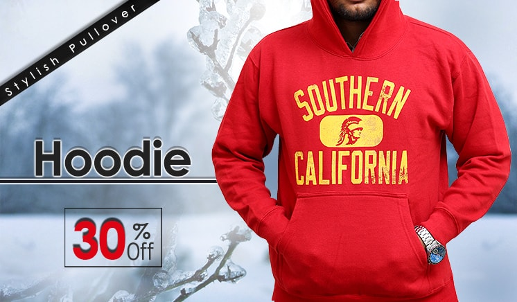 30% off on Stylish Hoodie for him
